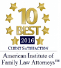 10 Best 2016 Client Satisfaction - American Institute of Family Law Attorneys
